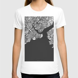 Istanbul Map Gray T-shirt