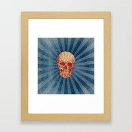 Retro Skull Framed Art Print