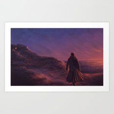 The Pirate and the Witch Art Print