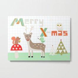 Merry X-mas! Merry Christmas Metal Print