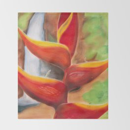 Heliconia Throw Blanket