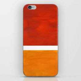 Burnt Orange Yellow Ochre Mid Century Modern Abstract Minimalist Rothko Color Field Squares iPhone Skin