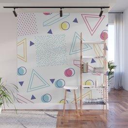 CUTE 80S INSPIRED GEOMETRIC PATTERN Wall Mural