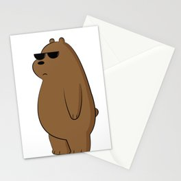 lovely bear with glasses - illustration  Stationery Cards