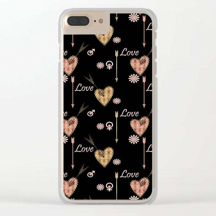 Broken hearts. Love . Clear iPhone Case