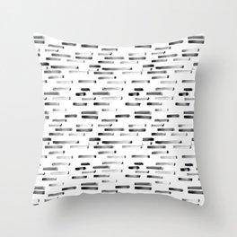 Noir grunge || painted stripes Throw Pillow