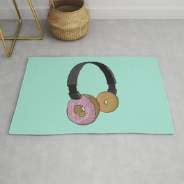 Donut Headphones Rug