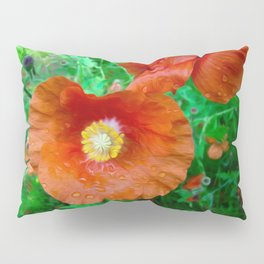 Poppy Art Pillow Sham
