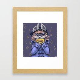 Hipster Fox Girl Framed Art Print