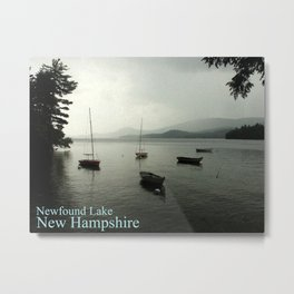 Newfound Lake New Hampshire Poster Metal Print