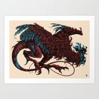 Bestiary / Cockatrice II Art Print