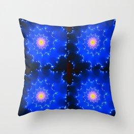 Mosaic in Blue Throw Pillow