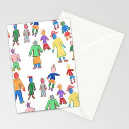Multicolor People Multiples Stationery Cards