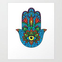 Kabbalah hand Art Print