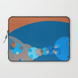 constance - bright abstract design of orange blue grey and aquamarine Laptop Sleeve