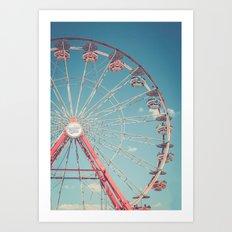 The Ferris Wheel 3 Art Print