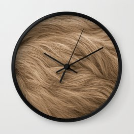 Dog hair texture Wall Clock