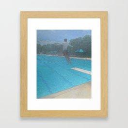Big Blue_painting Framed Art Print