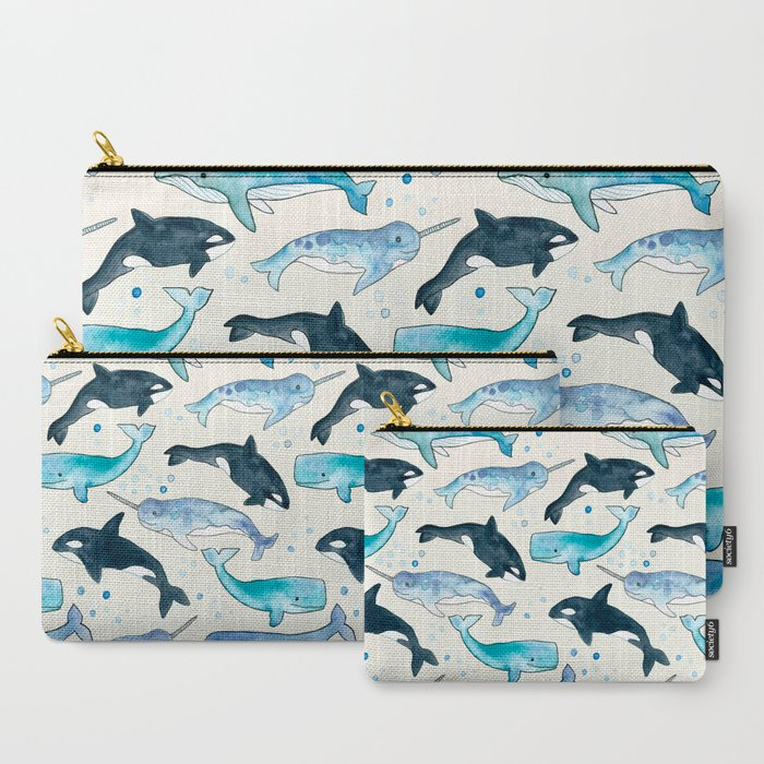 Whales_Orcas_&_Narwhals_CarryAll_Pouch_by_TangerineTane__Set_of_3