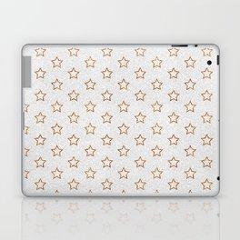 Chic white faux gold glitter modern stars pattern Laptop & iPad Skin