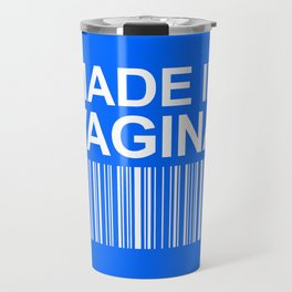 MADE IN VAGINA BABY FUNNY BARCODE (Baby Boy Blue) Travel Mug