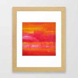 'Summer Day'  Orange Red Yellow Abstract Art Framed Art Print