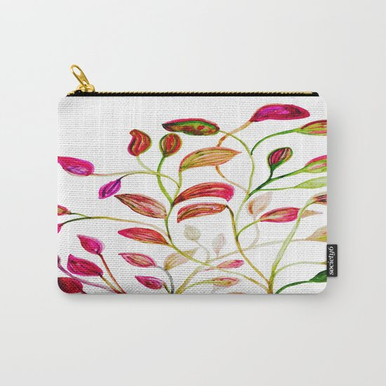Red and Green Leaves! Happy Holidays! Carry-All Pouch