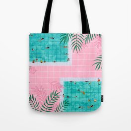 Two pool vacation Tote Bag