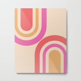 Adjacent arches - Pink and analogous colors Metal Print