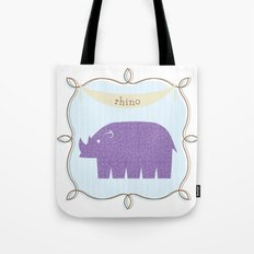 Fun at the Zoo: Rhino Tote Bag