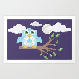 Nighttime Owl Art Print