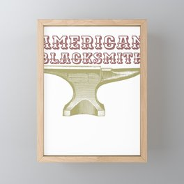 Blacksmithing American Blacsmith Anvil Framed Mini Art Print