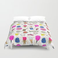 90s Duvet Covers featuring Growing Up in the 90s by Caroline Sansone