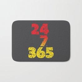 24-7/365 (Red hustle) Bath Mat