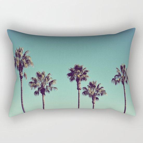 California Palm Trees Rectangular Pillow