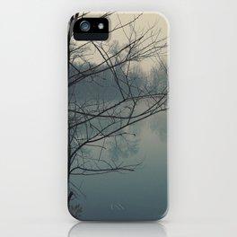 Fog on Cedar Lake iPhone Case