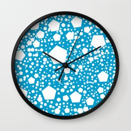 "Kalinka. ""Cerulean blue"" color Wall Clock"