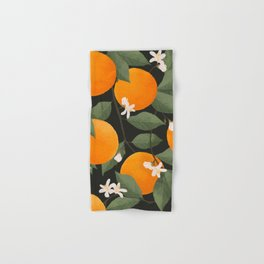 fresh citrus // dark Hand & Bath Towel