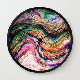 Colour of Deja Vu Wall Clock