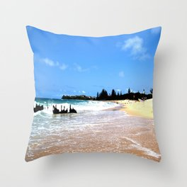 dicky ship Throw Pillow