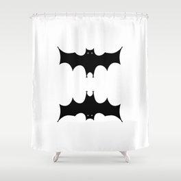 Double bat Shower Curtain