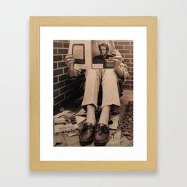 changing time  Framed Art Print