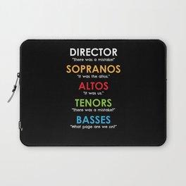 Funny Choir Director Gifts Orchestra Soprano Alto Tenor Bass Singer Laptop Sleeve