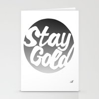 stay gold Stationery Cards featuring STAY GOLD by blzl