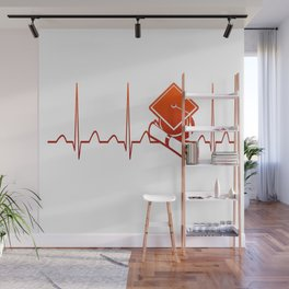 Student Heartbeat Wall Mural