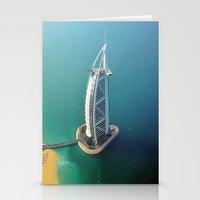 arab Stationery Cards featuring Dubai - Burj Al Arab Hotel by Art-Motiva