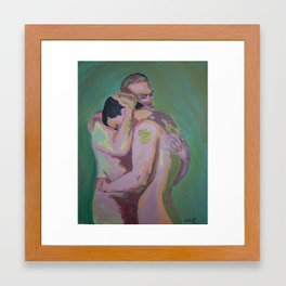 Comfort in His Arms Framed Art Print