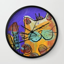 Happy Cat Wall Clock