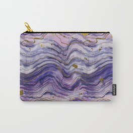 Purple Geode or Amethyst Carry-All Pouch