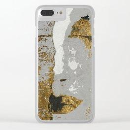 Klimt art Stylization Clear iPhone Case